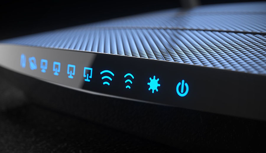 The Internet router indicators